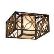 Remy Flush Fitting in Bronze and Gold with a Bronze Organza Shade - FEISS FE/REMY/F